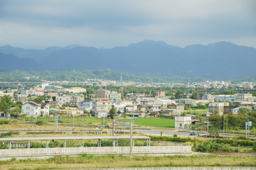 Rural scene around Miaoli high speed railway station