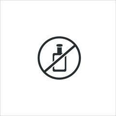 No drinking. No alkohol. Vector Illustration
