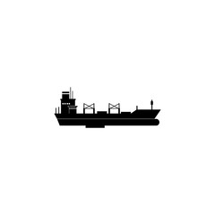 bulk carrier icon. Water transport elements. Premium quality graphic design icon. Simple icon for websites, web design, mobile app, info graphics