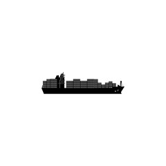 container ship icon. Water transport elements. Premium quality graphic design icon. Simple icon for websites, web design, mobile app, info graphics