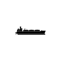 Oil tanker ship icon. Water transport elements. Premium quality graphic design icon. Simple icon for websites, web design, mobile app, info graphics