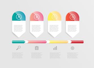 abstract horizontal bar infographic