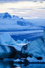Landscape scenery with ice, Jokulsarlon, Iceland