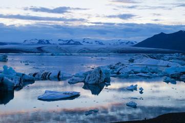 Landscape scenery with ice in Jokulsarlon ,Iceland