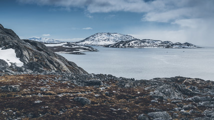 Mountains. Nuuk, Greenland. May 2014