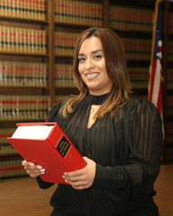 Immigration Law, Portrait of young attractive Mexican American woman lawyer