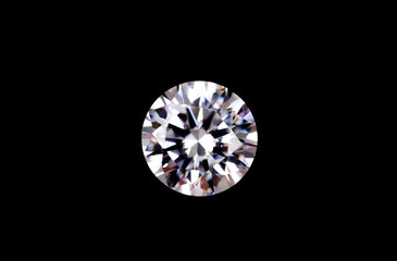 photo of real Diamonds on black background