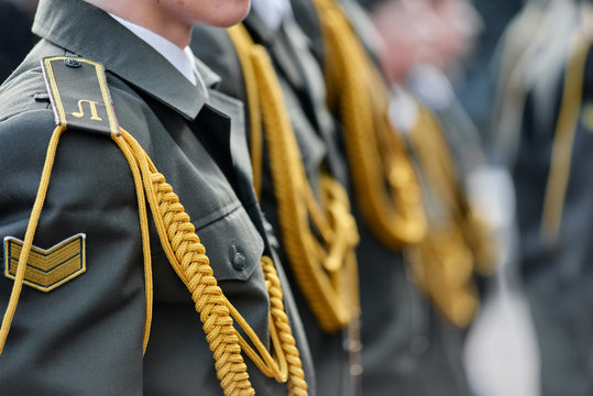 Military uniform with epaulettes