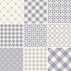 Seamless set of pattern on a plain background