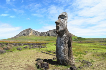 Moai statue in Easter Island, Chile