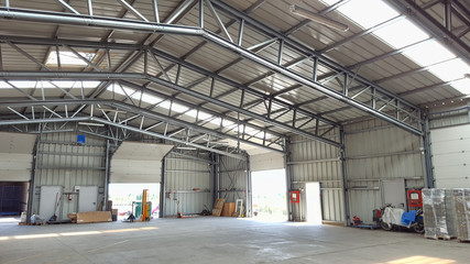 large warehouse or depot interior