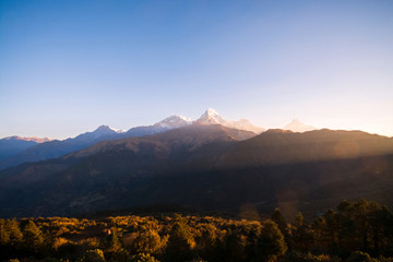 Mountain ranges in Nepal