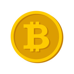 Bitcoin symbol in flat design. Coin symbol Electronic currency. Vector image.