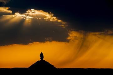 Regenschauer in der Wüste Gobi