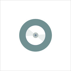 Compact Disk icon. Vector concept illustration for design.
