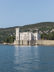 Miramare castle on the gulf of Trieste, Italy