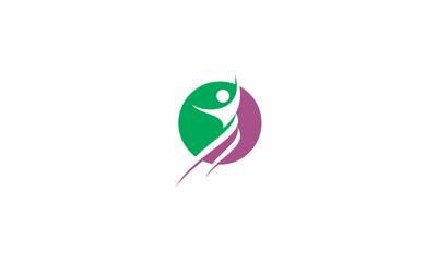 health, leaves, human, emblem symbol icon vector logo