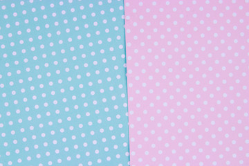 soft pink and light blue pastel colored paper background, minimal concept