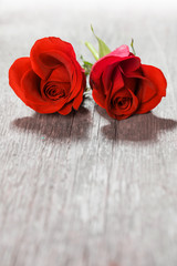 Heart shaped roses