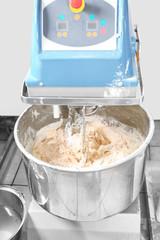Modern dough mixer, closeup