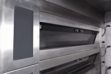 Modern electric oven in bakery