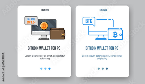 Flat line illustration for web and app  Cryptocurrency concept icon