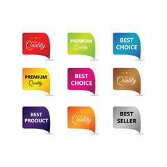 Label Compilation Logo Vector Template Design