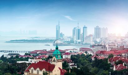 The beautiful coastal city of Qingdao Fototapete