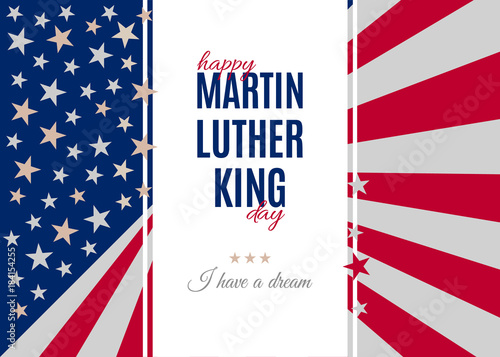 Happy Martin Luther King Day Placard Poster Or Greeting Card Text