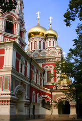 Eastern Orthodox Church of the Nativity of Christ, built by Russia in the Bulgarian town of Shipka.