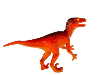 Raptor dinosaurs toy isolated on white background ,with clipping path