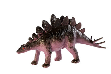 Stegosaurus dinosaurs toy isolated on white background ,with clipping path