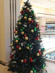 Christmas balls. Merry christmas card. Winter xmas theme.