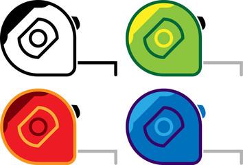 Measurement Tape Icon, Tape Measure Design