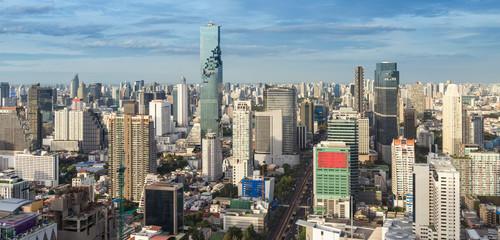 Bangkok city and urban downtown at daylight shot