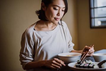 Beautiful japanese woman, lifestyle moments
