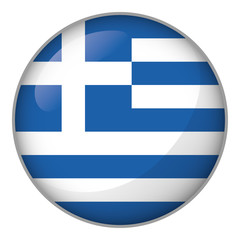 Icon representing button Greece flag. Ideal for catalogs of institutional materials and geography