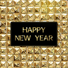 Happy New Year Background with luxury golden texture
