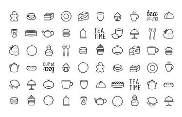 Motif pour décor de salon de thé, pâtisserie, spécialiste du dessert, du thé et du café