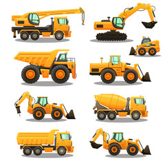 Construction equipment set.