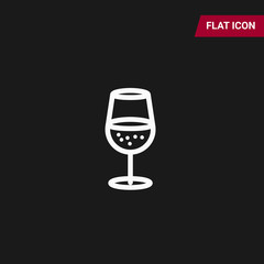 Wine Icon in trendy flat style isolated on grey background. Wine glass symbol for your web site design, logo, app, UI. Vector illustration, EPS10.