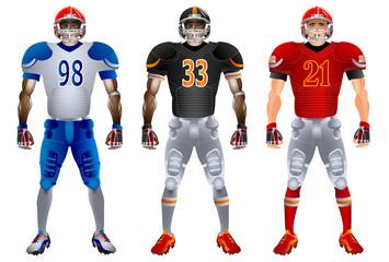 American football players uniform, vector