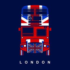 London symbol  -  red bus  icon – double decker - vector illustration