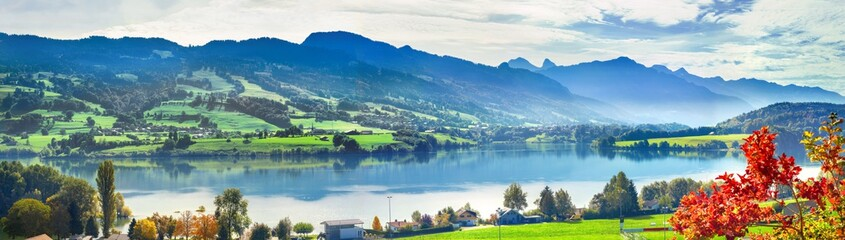 Wall Mural - Lake of Gruyere, Switzerland