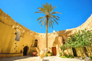 Berber underground dwellings. Matmata, Tunisia, North Africa