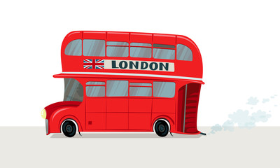 Vector image of a London bus