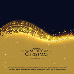 luxury christmas greeting card design with snowflakes and glowing wave