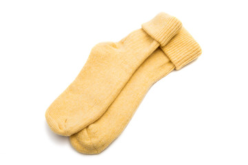 warm socks isolated