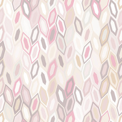 Abstract seamless pattern of hexagons. Motion and interlocking geometric forms.