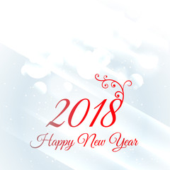 2018 happy new year greeting card design background